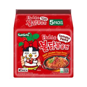 Hot Chicken Ramen Noodles Tomato Pasta 140g x 5pcs